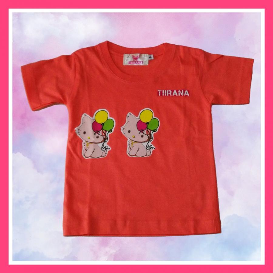 เสื้อยืดเด็ก Twin cats สีโอรสสีสวยหวานน่ารักน่าใส่ เด็กๆเห็นแล้วต้องชอบ ผ้าเนื้อดีเพื่อความสบ่ยตัวจองลูกรัก
