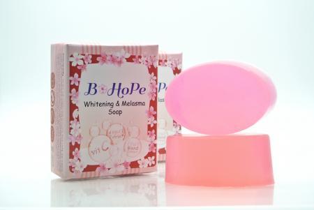 (10 Pcs.) Whitening & Melasma Soap / สบูอัลฟ่า-อาร์บูติน ผสมสารสกัดจากผลไม้ 6 ชนิด และโยเกิร์ต ขนาด 90 กรัม
