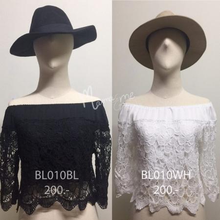 เสื้อเปิดบ่าผ้า cotton 100%