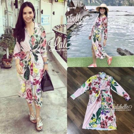 Zara Stripe Floral Dress Shirt