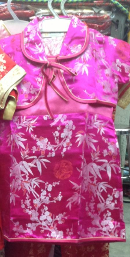 ชุดจีนเด็กหญิง เสื้อคลุม เดรสทรงเอ